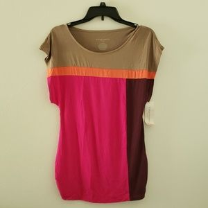 Color block Liz Lange Maternity short sleeve small